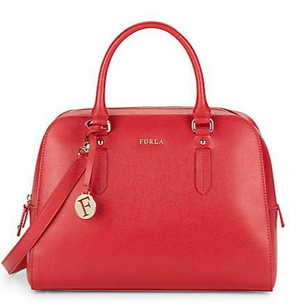 Furla Saffiano Leather Top-Handle Bag