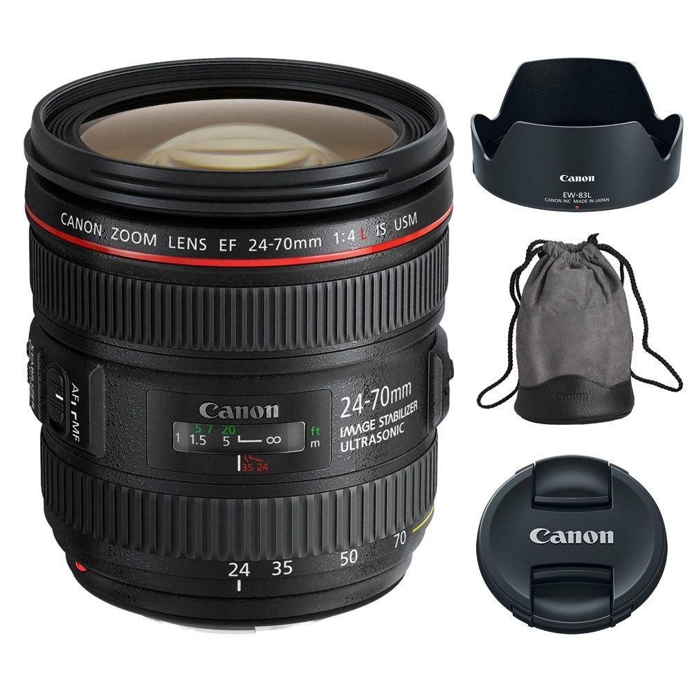 $599.99 Canon EF 24-70mm f/4L IS USM Zoom Lens