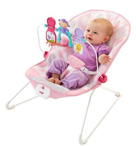 Fisher-Price Baby's Bouncer - Pink Ellipse @ Amazon