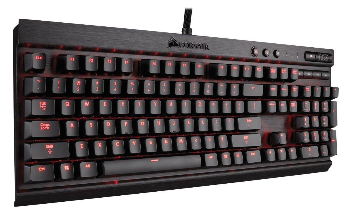 Corsair Gaming K70 Mechanical Gaming Keyboard, Backlit Red LED (CH-9000114-NA)6