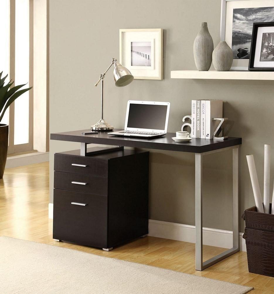 $166.6 Monarch Specialties Hollow-Core Left or Right Facing Desk, 48-Inch Length, Cappuccino