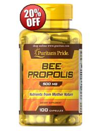 5 for $25.58 Puritan's Pride Bee Propolis 500 mg, 100 Capsules