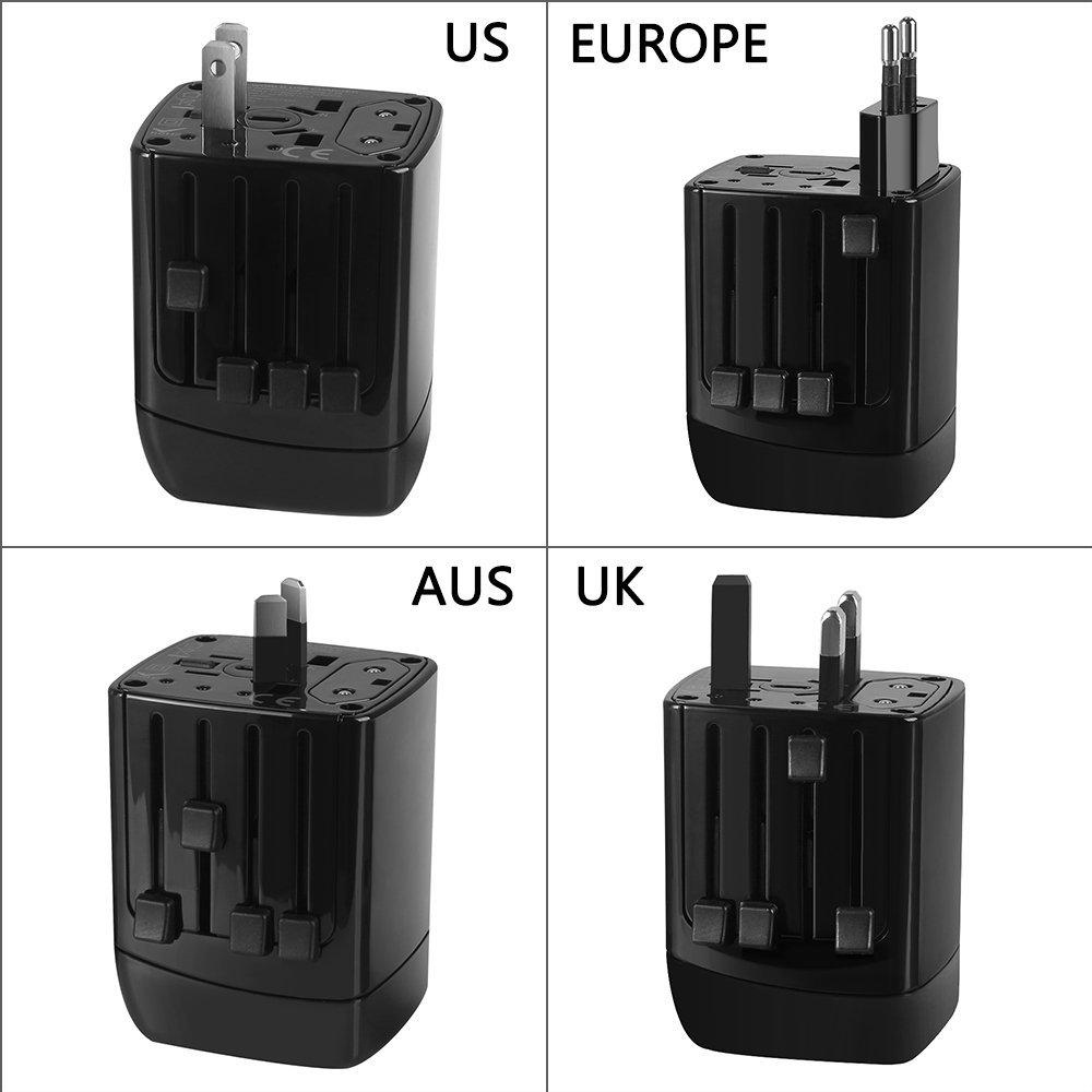 Keedox All-in-One International Worldwide Travel Plug Adapter with Dual USB Charger