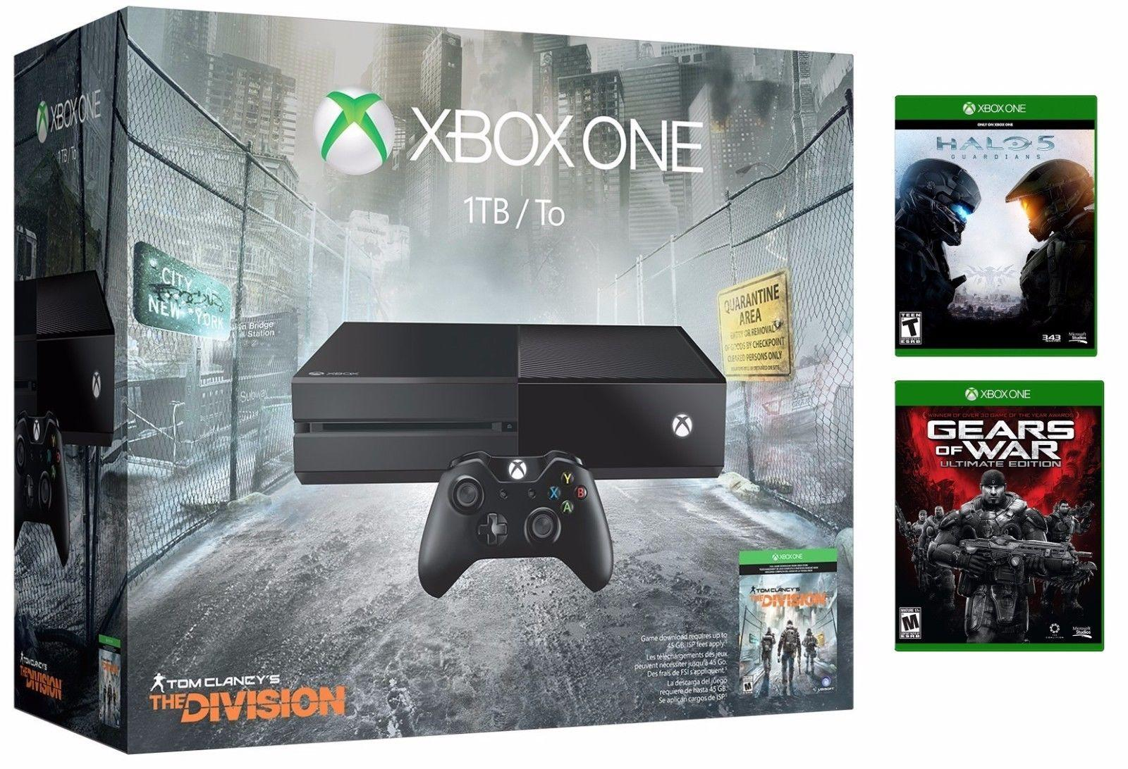 Xbox One 1TB The Division bundle w/ Halo 5 & Gears of War: Ultimate Edition