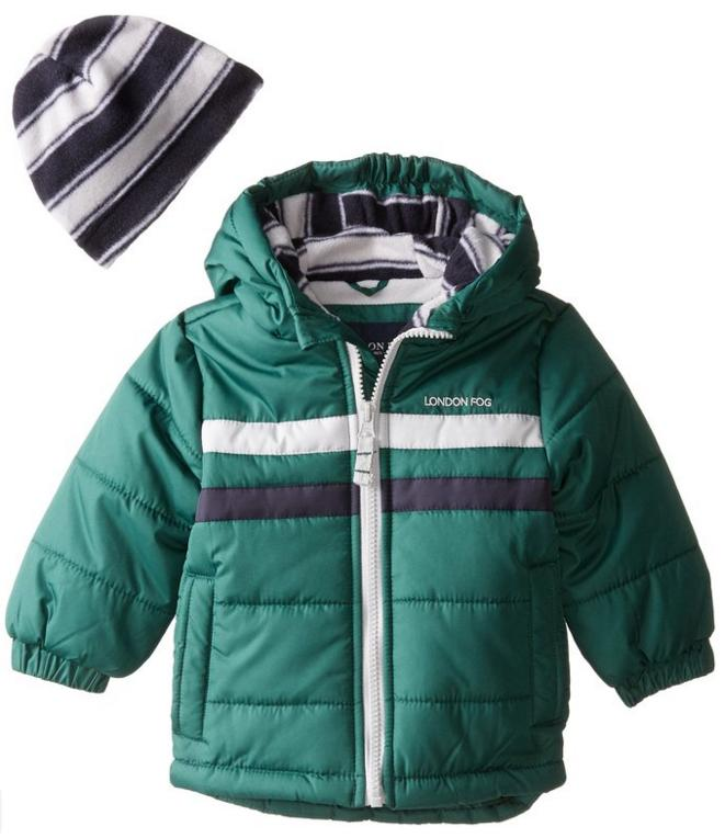 From $8.59 London Fog Baby Boys' Classic Bubble Jacket @ Amazon