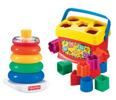 Fisher-Price Baby's First Blocks and Rock Stack Bundle @ Amazon