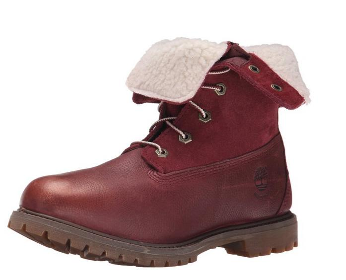$52.99 Timberland Women's Teddy Fleece Waterproof Fold-Down Boot