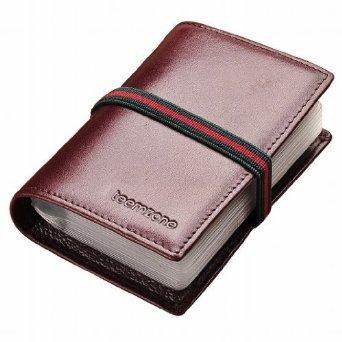 Teemzone Genuine Leather Business Credit Card Case Holder Organizer