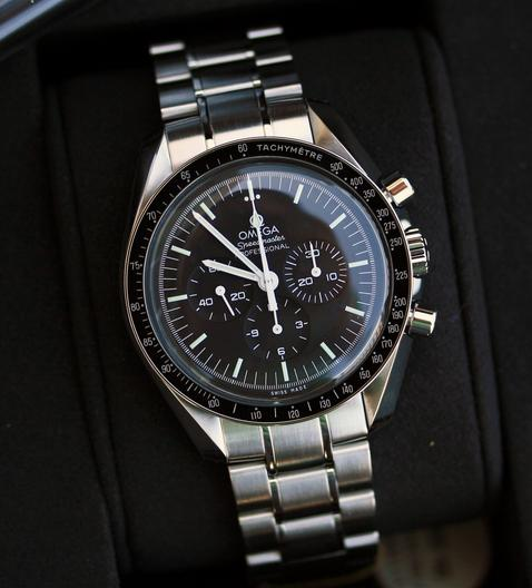 Omega Speedmaster Professional Moonwatch Black Dial Stainless Steel Men's Watch