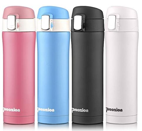 Procizion Insulated Stainless Steel Vacuum Flask Travel Mug 16 oz