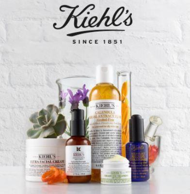 4 Free Deluxe Samples + 3 Samples with any $45 order @ Kiehl's