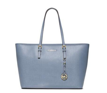 Jet Set Travel Saffiano Leather Top-Zip Tote @ Michael Kors