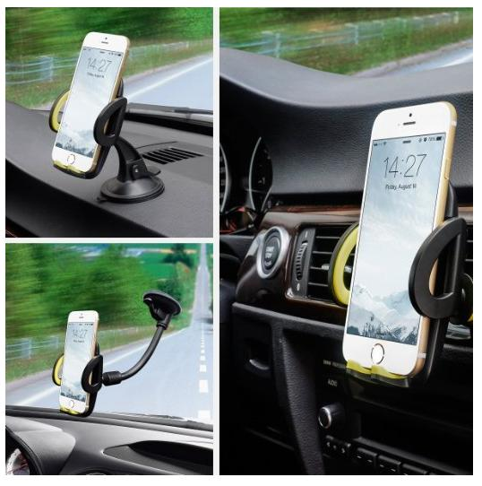 Omaker 3-in-1 Mobile Phone Car Mount Holder @ Amazon