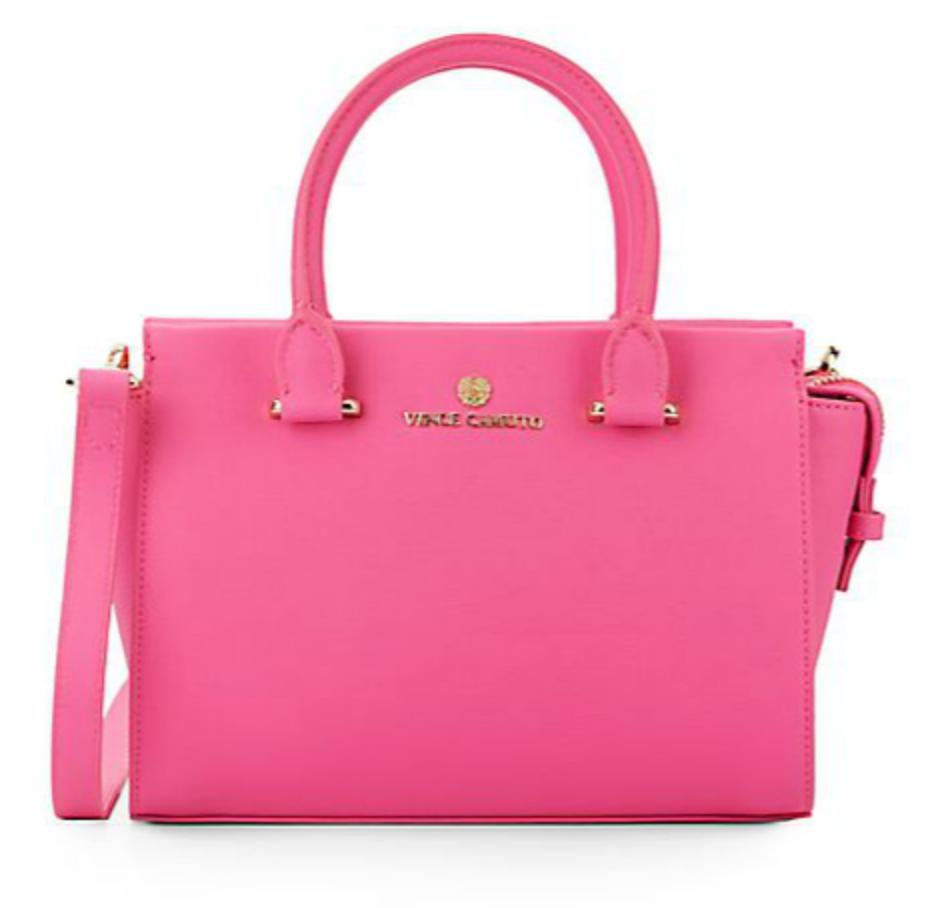 Vince Camuto Small Saffiano Leather Satchel