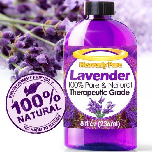 Heavenly Pure 100% Pure and Natural Lavender Essential Oil - 8 OZ