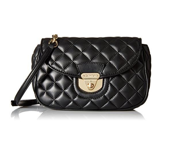 Lowest price! $83.99 Calvin Klein Quilted-Leather Convertible Cross-Body Bag