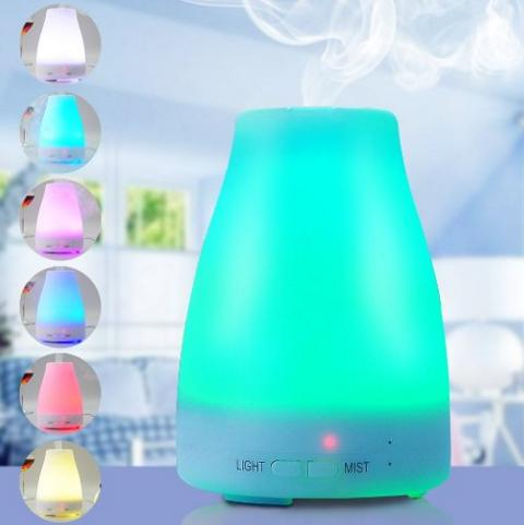 BATTOP Essential Oil Diffuser Ultrasonic Aromatherapy Oil Diffuser Cool Mist Aroma Humidifier With Color LED Lights and Waterless Auto Shut-off Function for Home,Yoga, Office, Spa, Bedroom,Baby Room