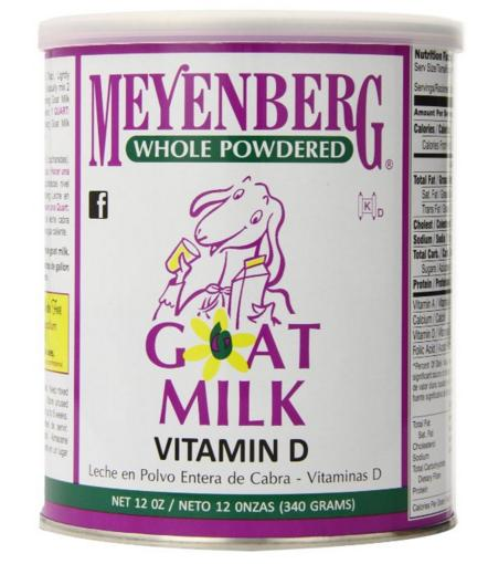 Meyenberg Whole Powdered Goat Milk, Vitamin D, 12 Ounce @ Amazon
