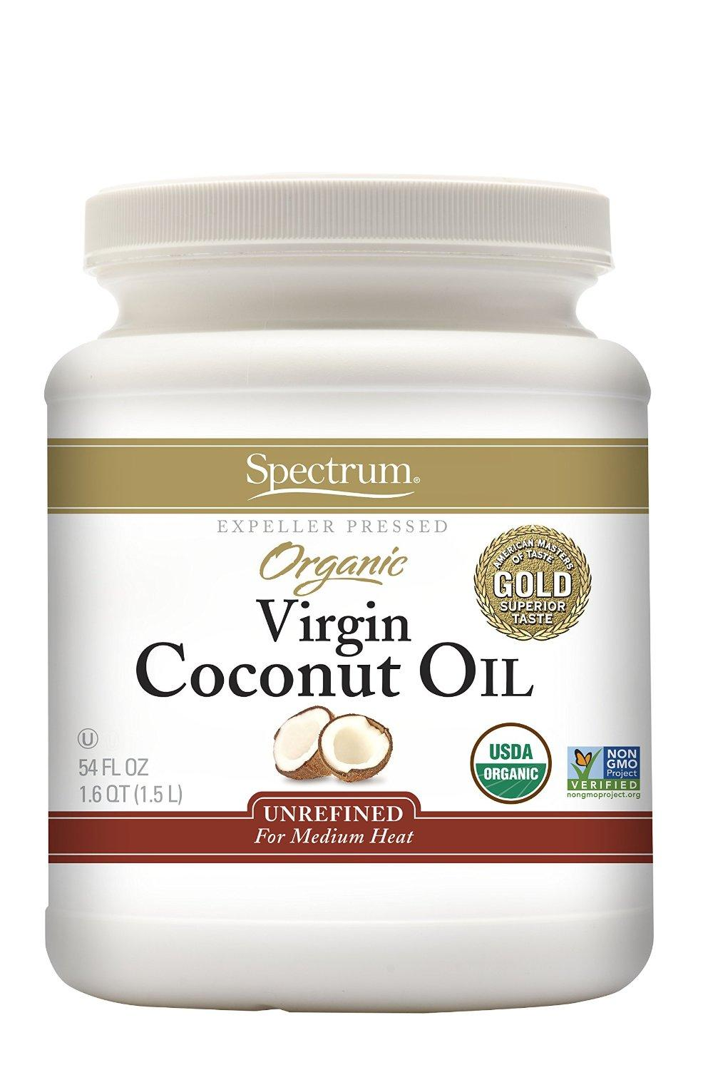 Spectrum Organic Virgin Coconut Oil, Unrefined, 54 Ounce