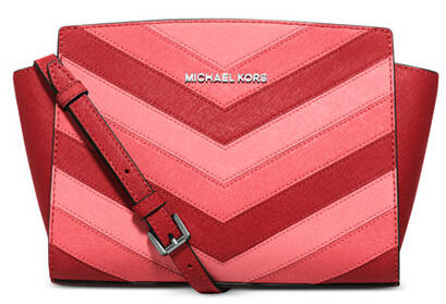 MICHAEL Michael Kors Selma Chevron Medium Messenger