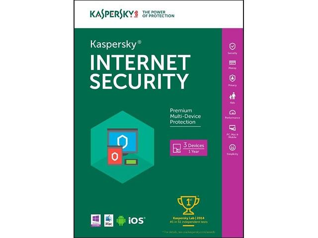 Kaspersky Internet Security 2016 - Key Card - 3 PCs