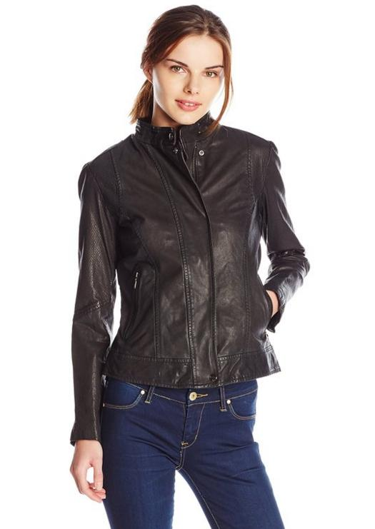 Cole Haan Women's Novelty Leather Jacket