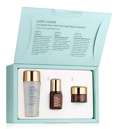 Free 7 Deluxe Samples ($120 Value) With Estée Lauder 'Get Started Now' Advanced Night Repair Essentials Set On Sale @ Belk