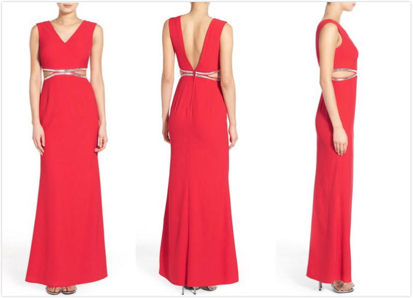 $55.2 Dear Moon Embellished V-Back Gown On Sale @ Nordstrom