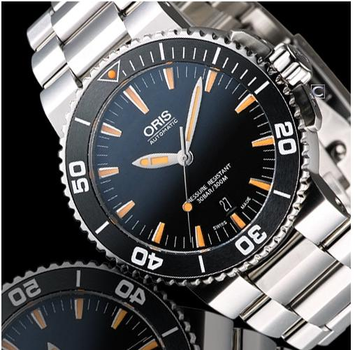 Oris Aquis Automatic Black Dial Stainless Steel Men's Watch 733-7653-4159MB