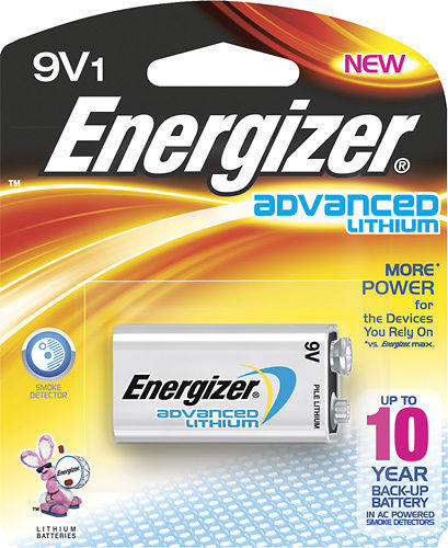 Energizer 9V Lithium Battery for Smoke Detectors