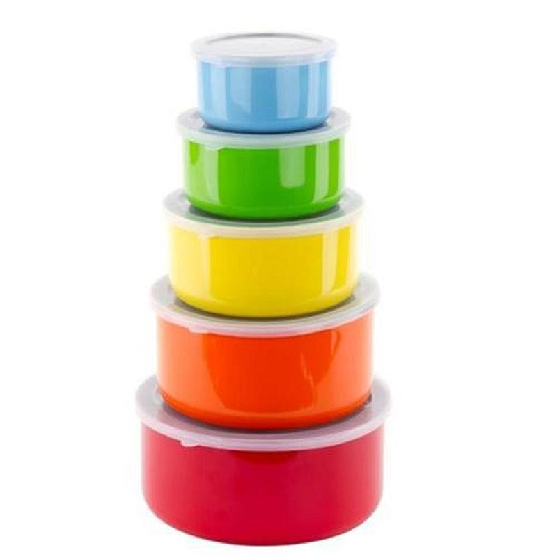 $7Stainless Steel Multi-Color - 5 pc.