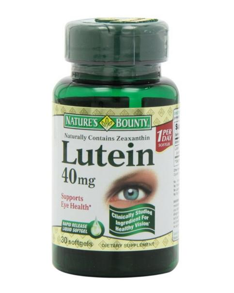 Nature's Bounty Lutein 40 Mg, 30-Count