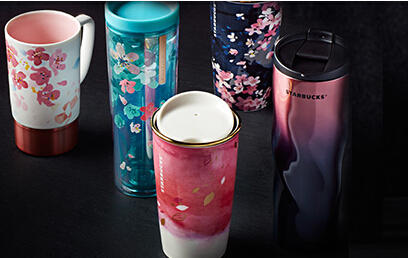 Start at $ 14.99 The Cherry Blossom Collection @ Starbucks