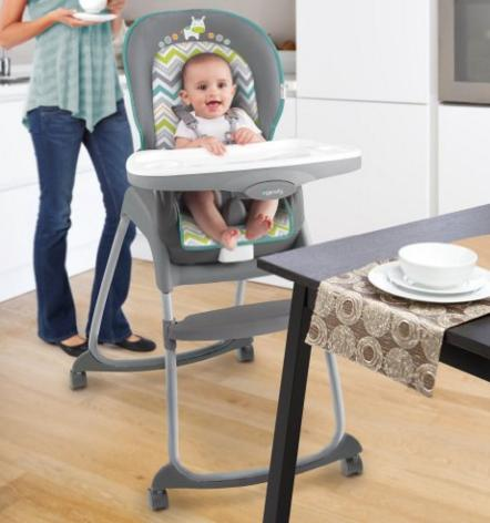 Ingenuity Trio 3-in-1 Ridgedale High Chair, Grey @ Amazon