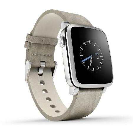 Pebble Time Steel Smartwatch for Apple/Android Devices