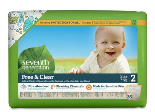 35% Off + Extra 20% Off Seventh Generation diapers Sale @ Amazon