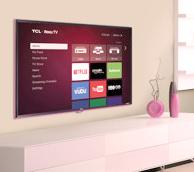 TCL 32S3850P 32-Inch 720p 60Hz Roku Smart Television Wifi LED TV (Pink)
