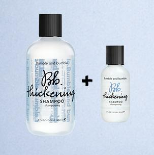 Free travel-size Thickening product with matching full-size purchase