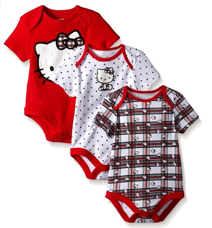 From $6.17 Hello Kitty Baby-Girls Bodysuits (Pack of 3)