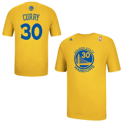 Golden State Warriors Stephen Curry adidas White Net Number T-Shirt