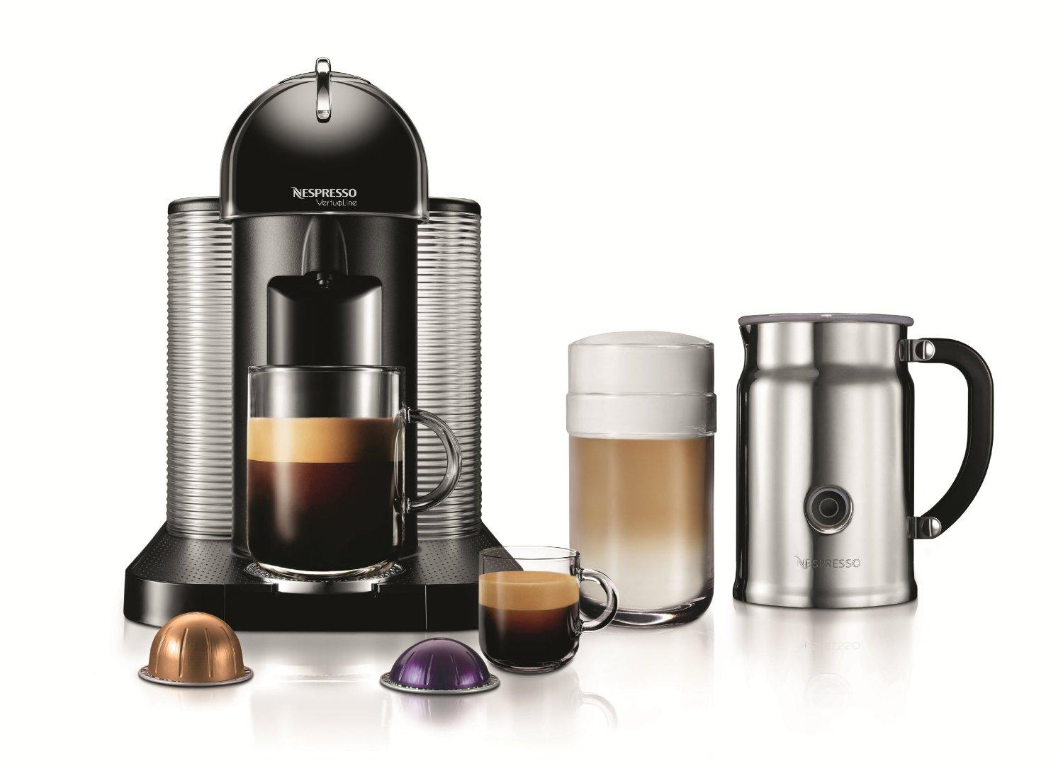 Nespresso Espresso Machine r with Aeroccino Plus Milk Frother,