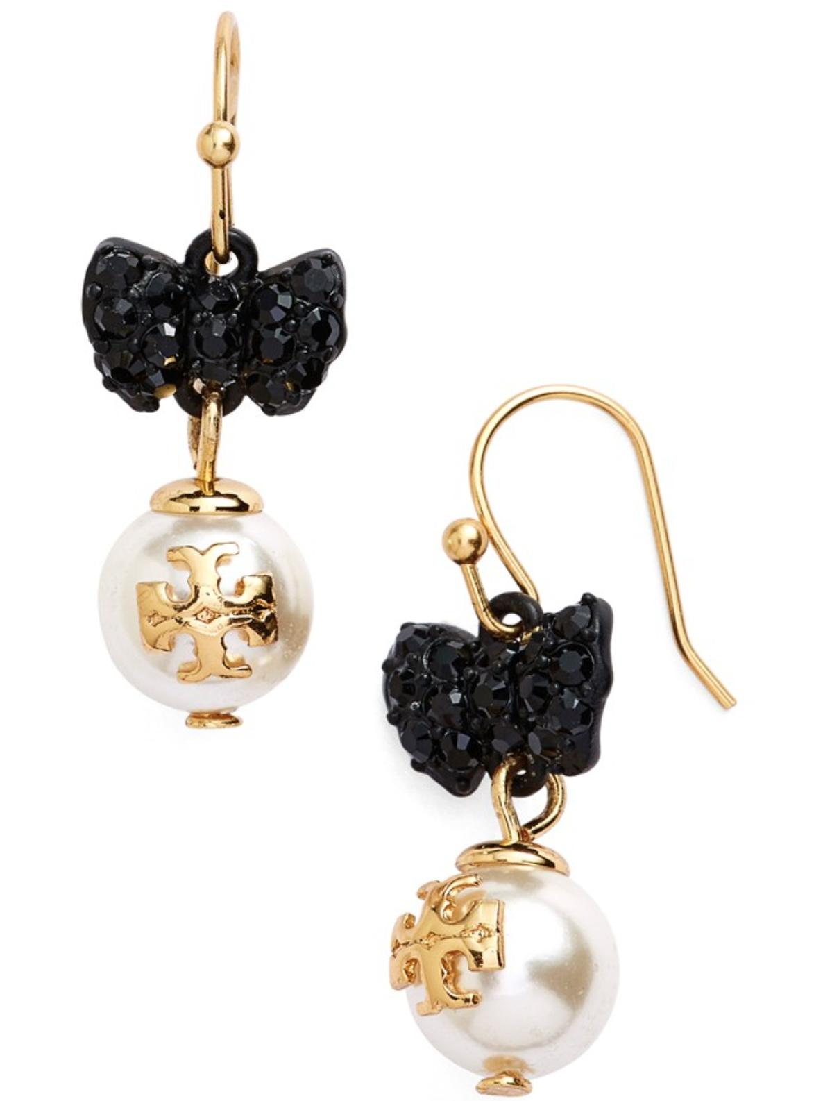 $63.65 Tory Burch 'Evie' Faux Pearl Drop Earrings On Sale @ Nordstrom