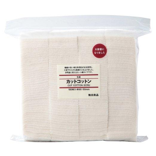 $8.28 MUJI Makeup Facial Soft Cut Cotton Unbleached 60x50 mm 180pcs