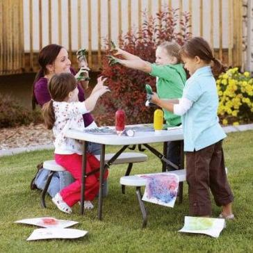 #1 Best seller! Lifetime 280094 Kid's Picnic Table