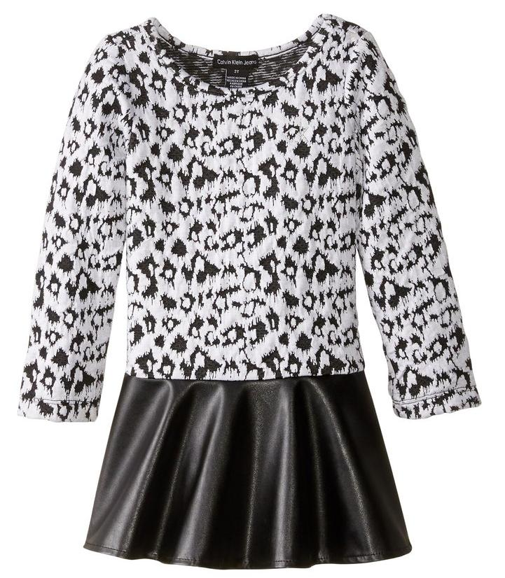 Calvin Klein Little Girls' Animal Print Dress
