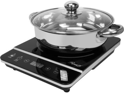 Rosewill 1,800-watt Induction Cooker with Stainless Steel Pot
