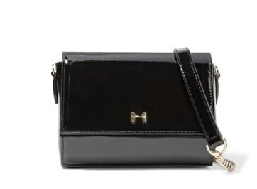 HALSTON HERITAGE Patent-leather shoulder bag @ THE OUTNET