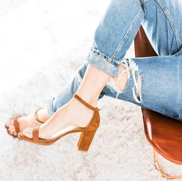 $279.99 Stuart Weitzman Nearlynude/Simple Ankle Strap Sandal @ 6PM.com