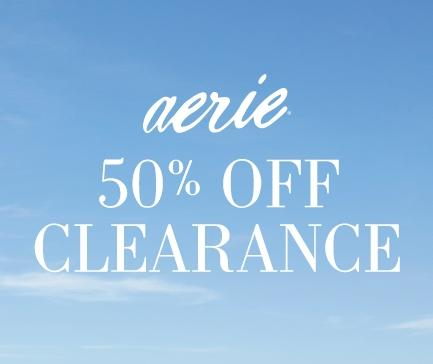 50% OffClearance @ Aerie by American Eagle