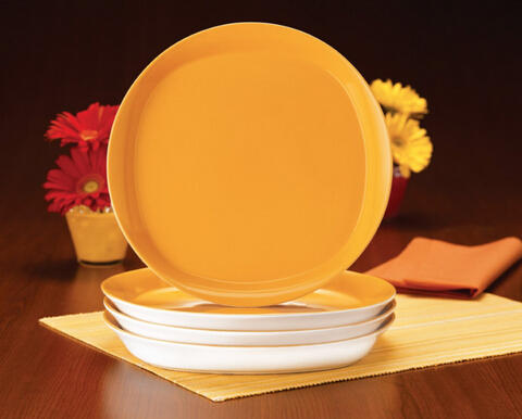 Rachael Ray Round and Square Dinner Plates, Set of 4